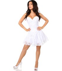 top drawer white lace corset dress