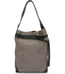 discord yohji yamamoto textured bucket bag - neutrals