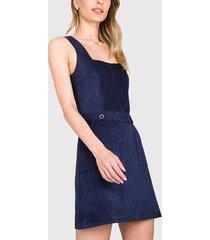 vestido  ash tejido azul - calce ajustado