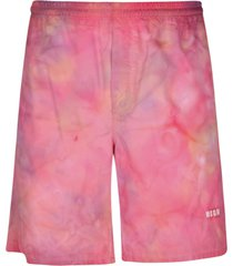 msgm faded color shorts