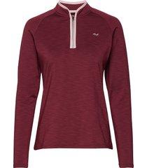 heat half zip sweat-shirt trui rood röhnisch