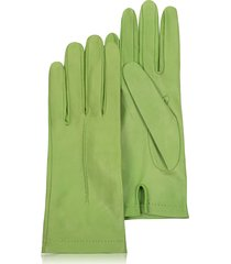 forzieri designer women's gloves, women's mint unlined italian leather gloves