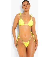 bikini broekje met zijstrikjes, yellow
