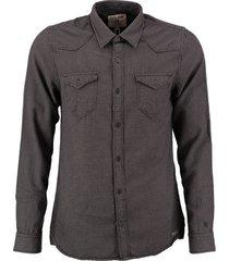 garcia zacht stevig slim fit overhemd grey khaki