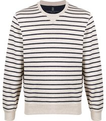 brunello cucinelli striped mariner sweatshirt - neutrals