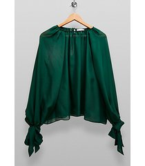 *forest green sheer blouse by topshop boutique - forest