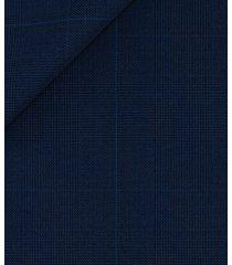 pantaloni da uomo su misura, reda, icon blu principe di galles, quattro stagioni   lanieri