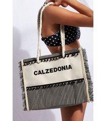 calzedonia beach bag eco woman black size tu