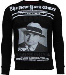 sweater local fanatic al capone - rhinestone sweater
