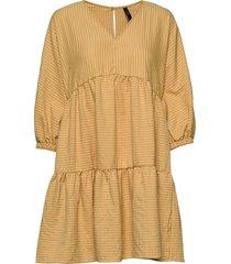yaschar 3/4 short dress d2d kort klänning gul yas