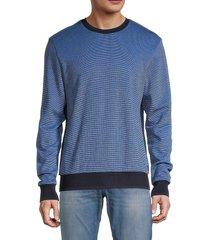 boss hugo boss men's stadler 35 gradient sweater - blue - size xxl