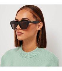bottega veneta women's oversized acetate sunglasses - black