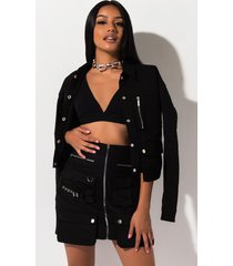 akira cadet kelly high rise mini skirt