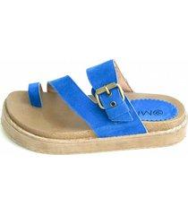 sandalia azul omm