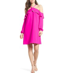 women's lilly pulitzer abrielle ruffle a-line dress, size 0 - pink