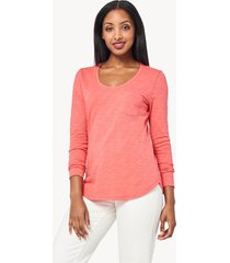lilla p long sleeve scoop neck tee