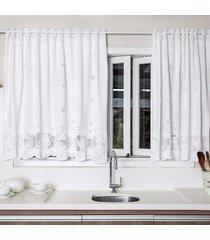 cortina portuguesa branca bule 2,80m x 1,50m único