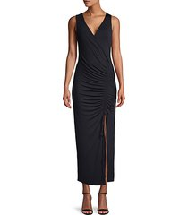 ruched sleeveless sheath dress