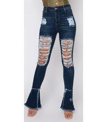 akira nouveau high waisted distressed flare jeans