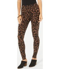 style & co petite animal-print pull-on leggings, created for macy's