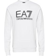 sweatshirt sweat-shirt tröja vit ea7