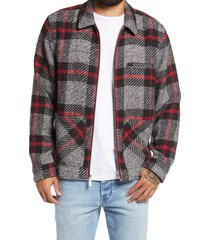 men's bp. oversize plaid jacket, size x-small - black