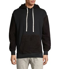 colorblock cotton hoodie