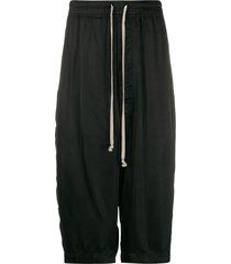 rick owens loose-fit basket swinger shorts - black