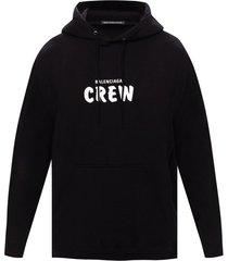crew logo drawstring hoodie