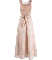 d.exterior fine tweed dress - neutrals