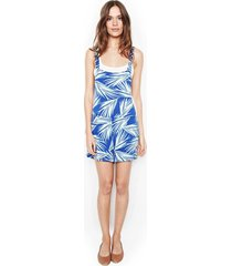 ridley adjustable shorts overalls - l royal palm tree