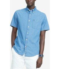 tommy hilfiger men's big & tall classic-fit benny twill shirt