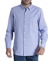 camisa  mini square algodón organico celeste rockford