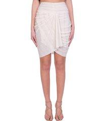 iro nistal skirt in white polyester