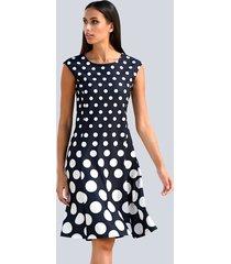 jurk alba moda marine::offwhite