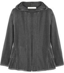 adyson parker women's teired hooded cardigan