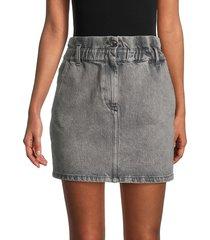 iro women's sahelspe faded mini denim skirt - smoke grey - size 40 (8)