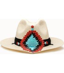 sparti cappello panama geometria messicana multicolor