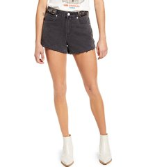 women's blanknyc buckle high waist denim shorts