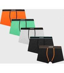 boxer 5 unidades classic multicolor arrow