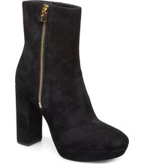 frenchie platform bootie shoes boots ankle boots ankle boots with heel svart michael kors shoes
