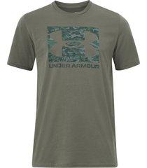 t-shirt ua abc camo boxed logo ss