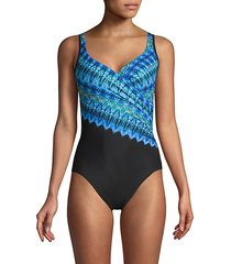 printed 1-piece swimsuit