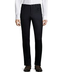 dressy five-pocket wool stretch trousers