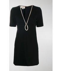 gucci v-neck shift dress