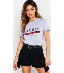 l'amour slogan t-shirt, grey
