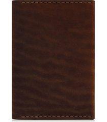 men's ezra arthur leather passport wallet - brown