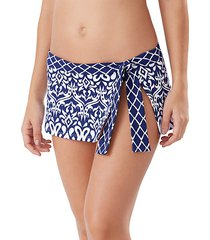 ikat printed swim skirt