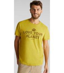 polera de jersey en 100% algodón ecológico amarillo esprit
