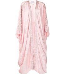 camilla crystal-embellished draped-design jacket - pink